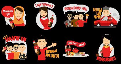 Coca-Cola : Ramadan Meriah Bersama Line Sticker GIF & PNG Pack: Animated & Transparent No Background | WhatsApp Sticker