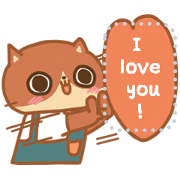 Din-Dong DIY Message Stickers 1 Sticker for LINE & WhatsApp | ZIP: GIF & PNG