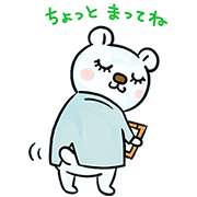 Dr. Kumatsuge Stickers Sticker for LINE & WhatsApp | ZIP: GIF & PNG