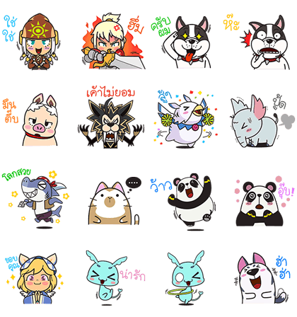 Dragonica Mobile Line Sticker GIF & PNG Pack: Animated & Transparent No Background | WhatsApp Sticker
