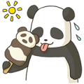 Fatty the Panda Sticker for LINE & WhatsApp | ZIP: GIF & PNG