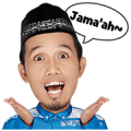 Fun Ramadhan with Ustadz Maulana Sticker for LINE & WhatsApp | ZIP: GIF & PNG