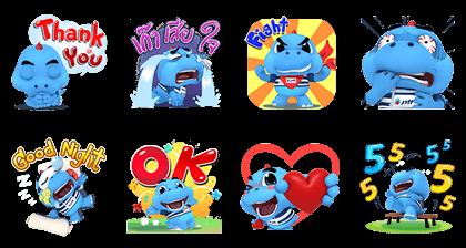 Godji Energy Hero Pop-Ups Line Sticker GIF & PNG Pack: Animated & Transparent No Background | WhatsApp Sticker