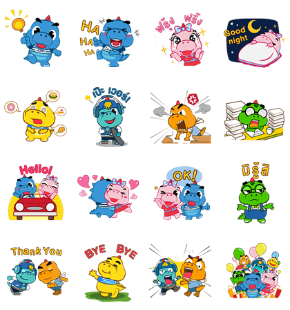 Godji Family | 3304 Line Sticker GIF & PNG Pack: Animated & Transparent No Background | WhatsApp Sticker