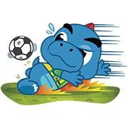 Godji Soccer Fever Sticker for LINE & WhatsApp | ZIP: GIF & PNG