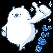 Halls Polar Bear Stickers Sticker for LINE & WhatsApp | ZIP: GIF & PNG