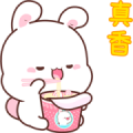 Happy Bunny 7-Pop-Up Stickers