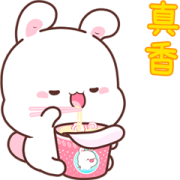 Happy Bunny 7-Pop-Up Stickers Sticker for LINE & WhatsApp | ZIP: GIF & PNG