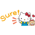 Hello Kitty Small Stickers Sticker for LINE & WhatsApp | ZIP: GIF & PNG