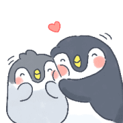 Hoshio and Little Penguin Sticker for LINE & WhatsApp | ZIP: GIF & PNG