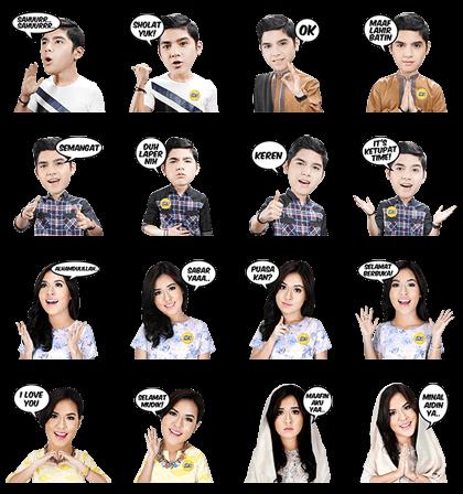 KetupaT IM3 Raisa and Al Ghazali Line Sticker GIF & PNG Pack: Animated & Transparent No Background   WhatsApp Sticker