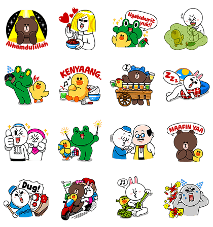 LINE Characters: Festive Ramadhan Days Line Sticker GIF & PNG Pack: Animated & Transparent No Background | WhatsApp Sticker
