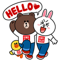 LINE Characters at UNIQLO Sticker for LINE & WhatsApp | ZIP: GIF & PNG