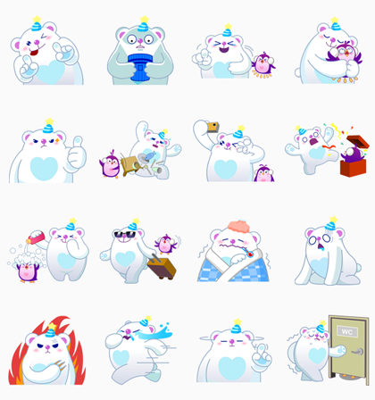LINE IceQpick Line Sticker GIF & PNG Pack: Animated & Transparent No Background | WhatsApp Sticker