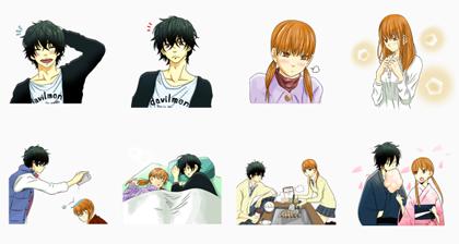 LINE MANGA: Tonari no Kaibutsu-kun Line Sticker GIF & PNG Pack: Animated & Transparent No Background | WhatsApp Sticker