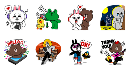 LINE MUSIC Special Line Sticker GIF & PNG Pack: Animated & Transparent No Background | WhatsApp Sticker