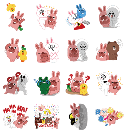 LINE PokoPoko Line Sticker GIF & PNG Pack: Animated & Transparent No Background | WhatsApp Sticker