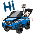 Let's zoom-zoom Sticker for LINE & WhatsApp | ZIP: GIF & PNG