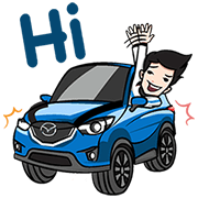 Let's zoom-zoom Sticker for LINE & WhatsApp   ZIP: GIF & PNG