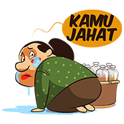 Mbok De's Traditional Herbs Sticker for LINE & WhatsApp | ZIP: GIF & PNG