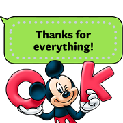Mickey and Friends Message Stickers Sticker for LINE & WhatsApp | ZIP: GIF & PNG