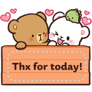 Milk & Mocha Message Stickers (Indo) Sticker for LINE & WhatsApp | ZIP: GIF & PNG
