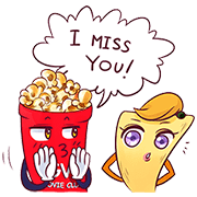 Mr Popcorn and Friends Sticker for LINE & WhatsApp | ZIP: GIF & PNG