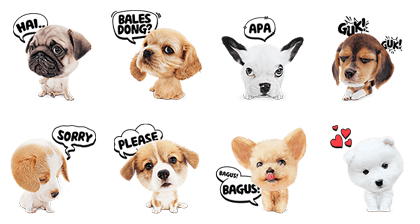 My Best Friend, Woof Woof Line Sticker GIF & PNG Pack: Animated & Transparent No Background   WhatsApp Sticker