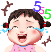Noina Little Girl Sticker for LINE & WhatsApp | ZIP: GIF & PNG