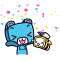 OOKBEE & RoBEAR Enjoy E-Books by OOKBEE Sticker for LINE & WhatsApp | ZIP: GIF & PNG