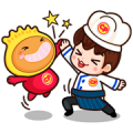 P' Chef & N' Kyo Sticker for LINE & WhatsApp | ZIP: GIF & PNG