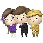 PEA Team Up: We're Here for Light Sticker for LINE & WhatsApp | ZIP: GIF & PNG