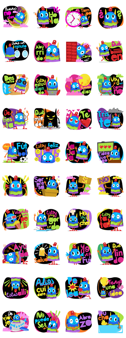 PIÑATA BOY Line Sticker GIF & PNG Pack: Animated & Transparent No Background | WhatsApp Sticker