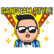 PSY GANGNAM STYLE Sticker for LINE & WhatsApp | ZIP: GIF & PNG
