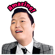 PSY Hangover Special Sticker for LINE & WhatsApp | ZIP: GIF & PNG