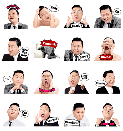PSY Hangover Special Line Sticker GIF & PNG Pack: Animated & Transparent No Background | WhatsApp Sticker