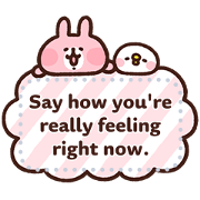 Piske & Usagi Message Stickers Sticker for LINE & WhatsApp | ZIP: GIF & PNG