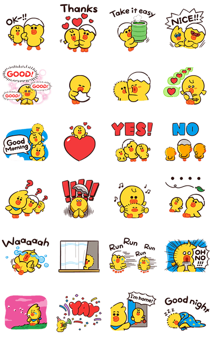 SALLY & FRIENDS: LOUIE, ELLY, and ARI Line Sticker GIF & PNG Pack: Animated & Transparent No Background | WhatsApp Sticker