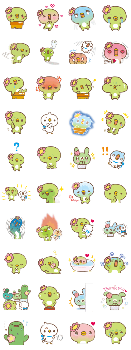 Sabokappa Line Sticker GIF & PNG Pack: Animated & Transparent No Background | WhatsApp Sticker