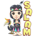 Sarita, The Dayak Girl Sticker for LINE & WhatsApp | ZIP: GIF & PNG
