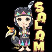 Sarita,TheDayakGirl Sticker for LINE & WhatsApp | ZIP: GIF & PNG