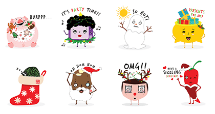 Singaporeans Christmas Edition Line Sticker GIF & PNG Pack: Animated & Transparent No Background | WhatsApp Sticker