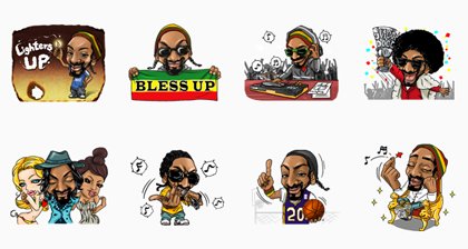 Snoop's Sticky Icky Sticker Set Line Sticker GIF & PNG Pack: Animated & Transparent No Background | WhatsApp Sticker