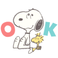 Snoopy: Peanuts (80's) Sticker for LINE & WhatsApp | ZIP: GIF & PNG