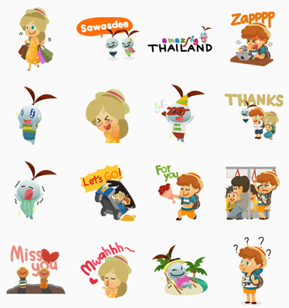 Sukjai, Jonathan and Lucy Line Sticker GIF & PNG Pack: Animated & Transparent No Background | WhatsApp Sticker