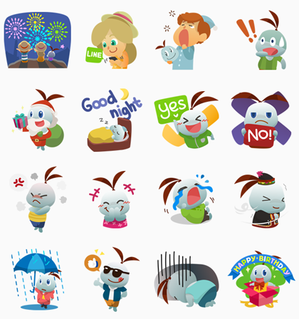 Sukjai New Collection Line Sticker GIF & PNG Pack: Animated & Transparent No Background | WhatsApp Sticker