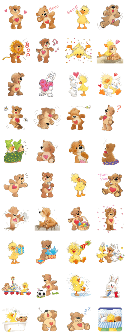 Suzy's Zoo Boof Special Line Sticker GIF & PNG Pack: Animated & Transparent No Background | WhatsApp Sticker