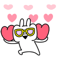 Usagyuuun!!! × LINE Securities Sticker for LINE & WhatsApp | ZIP: GIF & PNG