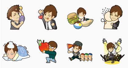 Will Pan Line Sticker GIF & PNG Pack: Animated & Transparent No Background | WhatsApp Sticker
