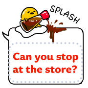 gudetama Speech Balloon Stickers Sticker for LINE & WhatsApp | ZIP: GIF & PNG